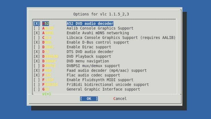 VLC-Make config