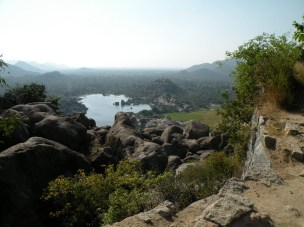 View from top of Gingee fort