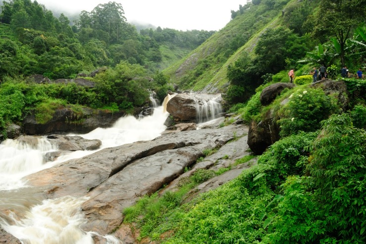 Aattukadu Waterfall from a distance