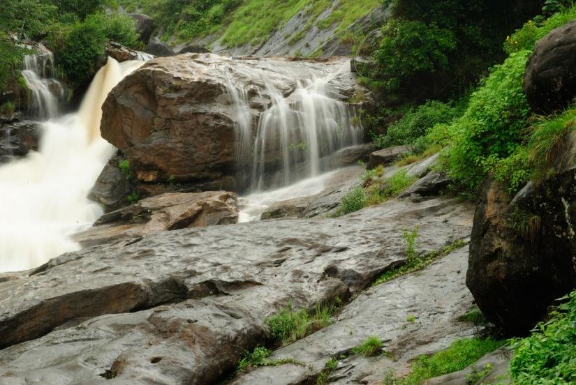 Aattukadu Waterfall from a distance