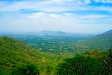 View from Kolli hills near Namakkal